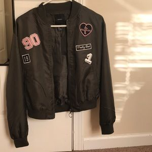 Forever 21 fashion jacket with patches size small